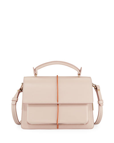 Attache Leather Top Handle Bag