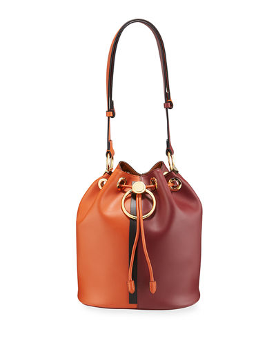 Two-Tone Earring Bucket Bag