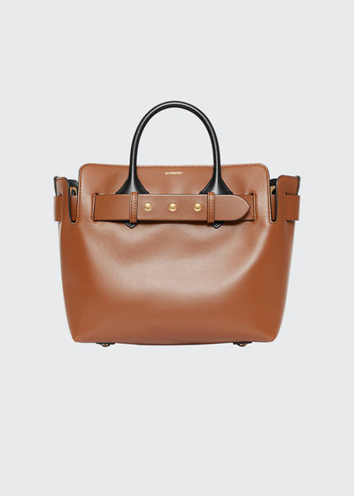 Small Belt Two-Tone Tote Bag