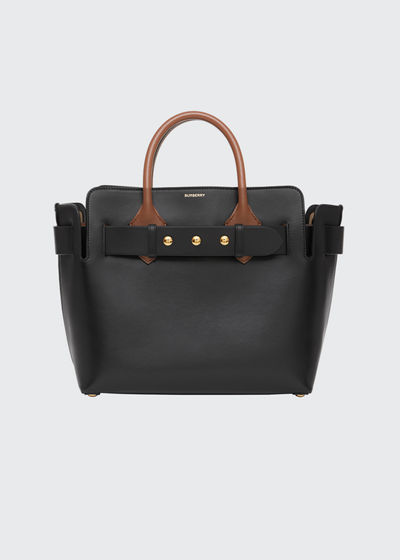 Marais Small Belted Leather Satchel Bag