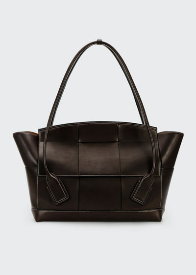 Large Intrecciato French Top-Handle Bag