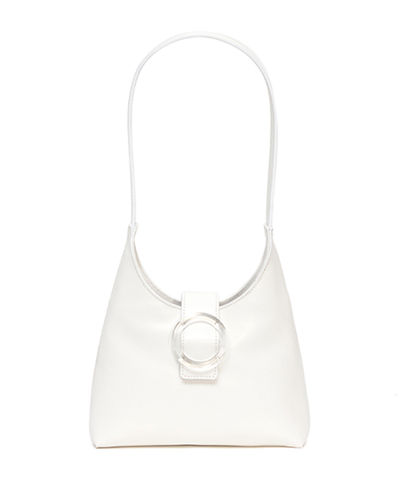 Leather Lucite-Buckle Mini Shoulder Bag