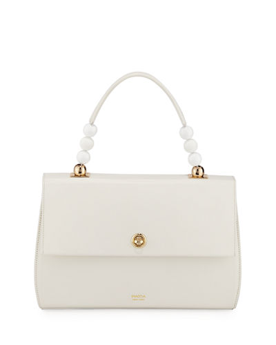 Carre Leather Top Handle Bag