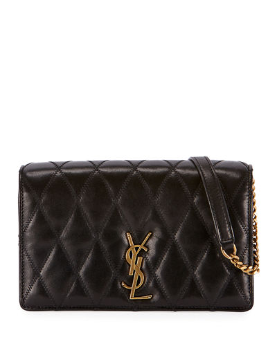Angie YSL Monogram Quilted Lamb Crossbody Bag - Gold Hardware