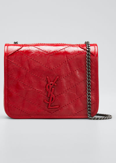 Niki YSL Monogram Vintage Calfskin Wallet on Chain