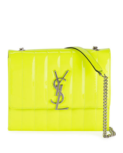 52d5bb04b6 Medium Metallic Shoulder Bag. $2,250 · Vicky Shiny Quilted Wallet on Chain  Quick Look. BRIGHT YELLOW; BRIGHT PINK. Saint Laurent