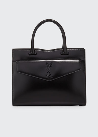 Uptown Medium YSL Leather Tote Bag