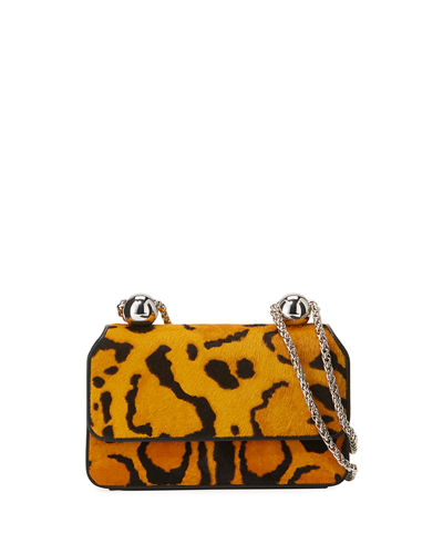 Animal-Print Flap Shoulder Bag