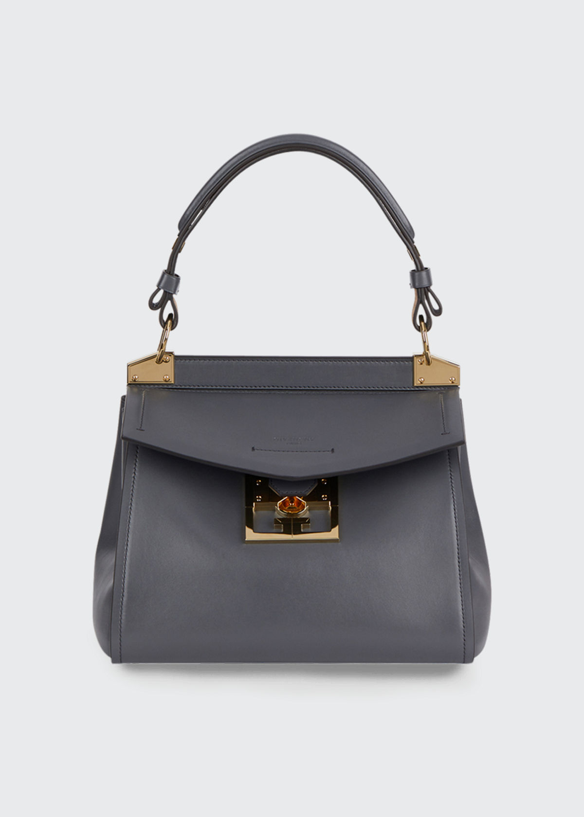 307828c1d33 Givenchy Mystic Small Calfskin Top-Handle Bag In Dark Gray ...