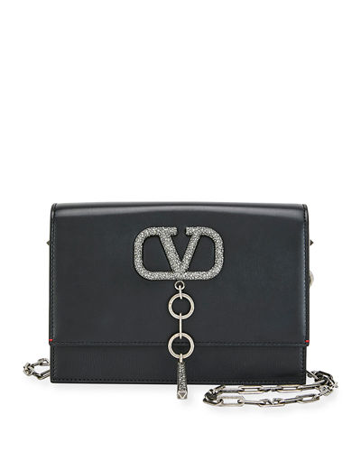 V Case Small Leather Shoulder Bag