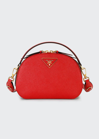 aa5cd6eadee9f6 Prada Leather Top Handles Bag | bergdorfgoodman.com