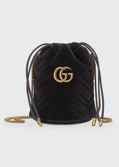 bfa6a4463 GG Marmont Mini Bucket Bag Quick Look. BLACK; FUCHSIA. Gucci