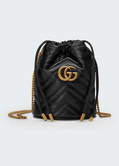 c663cc805069 GG Marmont 2.0 Mini Leather Bucket Bag