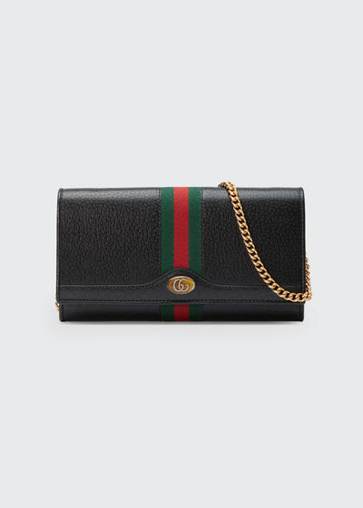 e06f4518dfe1 Ophidia Leather Continental Wallet on Chain Quick Look. BLACK; WHITE. Gucci