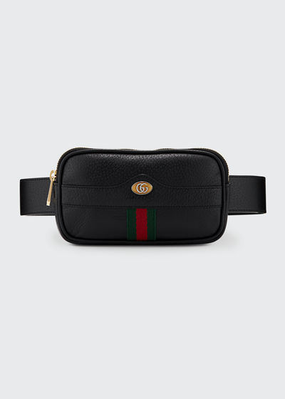 Ophidia Leather Belt Bag