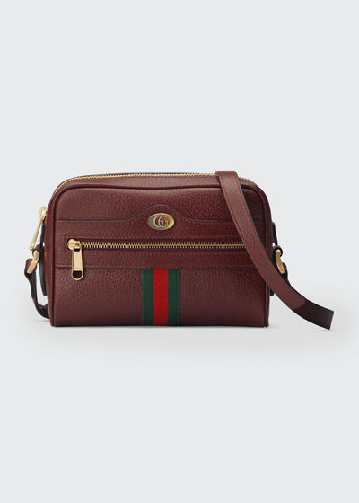 Ophidia Mini Leather Crossbody Bag