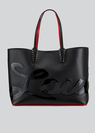 Cabata Logo Empire Leather Tote Bag