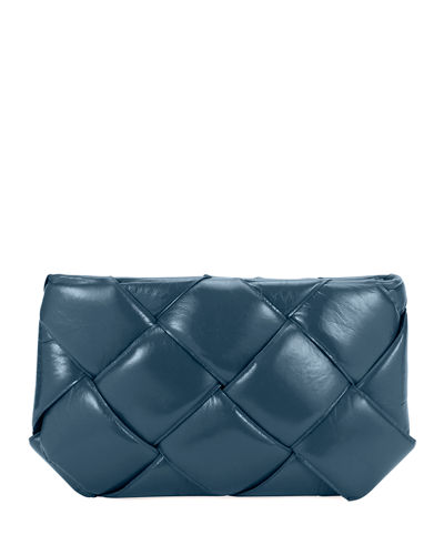Puffer Intrecciato Zip-Top Clutch Bag