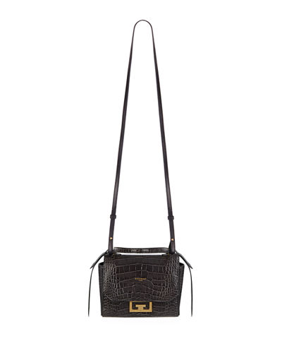 Eden Mini Crocodile-Embossed Crossbody Bag