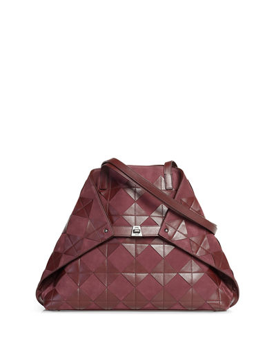 Ai Medium Patchwork Tiles Shoulder Tote Bag