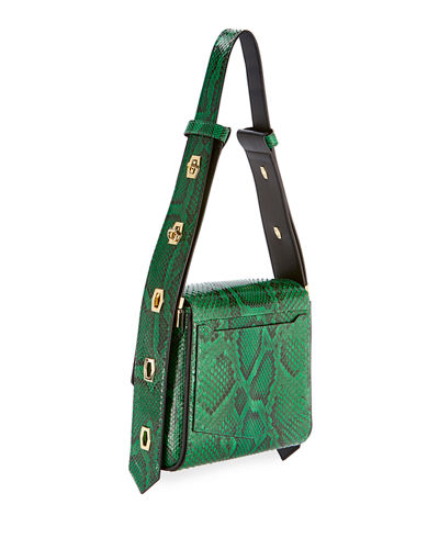 Eden Medium Python Shoulder Bag