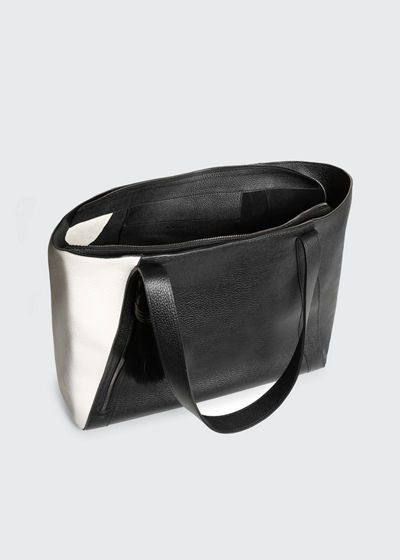 Alexa Medium Colorblock Leather Zip Tote Bag