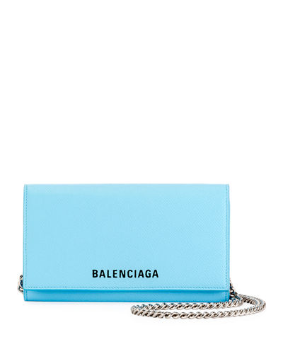 36e48614579 Ville Phone On Chain Calfskin Wallet Bag Quick Look. LIGHT BLUE; PINK.  Balenciaga