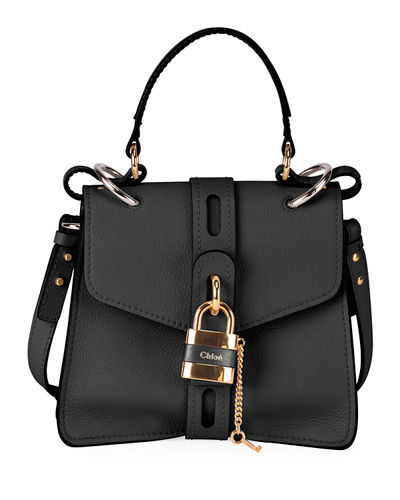 Aby Mini Grained Top-Handle Bag