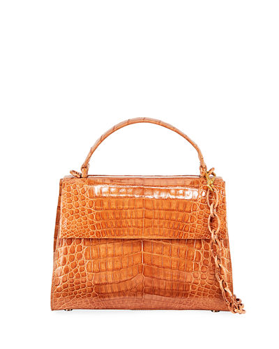 Medium Crocodile Top Handle Bag