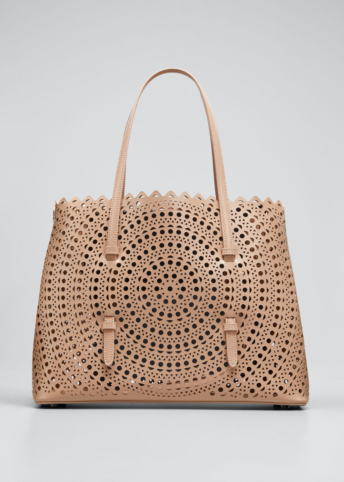 Alaïa MINA MEDIUM LASER-CUT LEATHER TOTE BAG