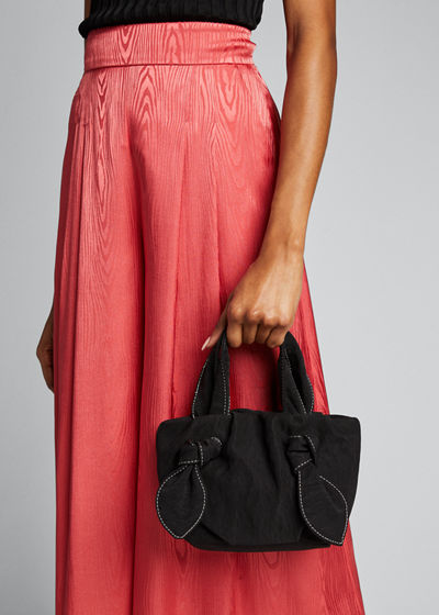 Ronnie Satin Knotted Tote Bag