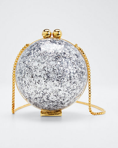 Orb Flaked Minaudere Clutch Bag