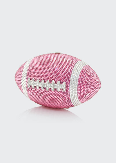 Crystal Football Minaudiere Bag