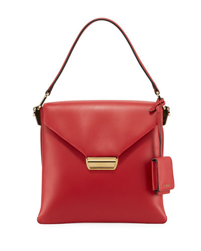 Ingrid Smooth Leather Top-Handle Shoulder Bag