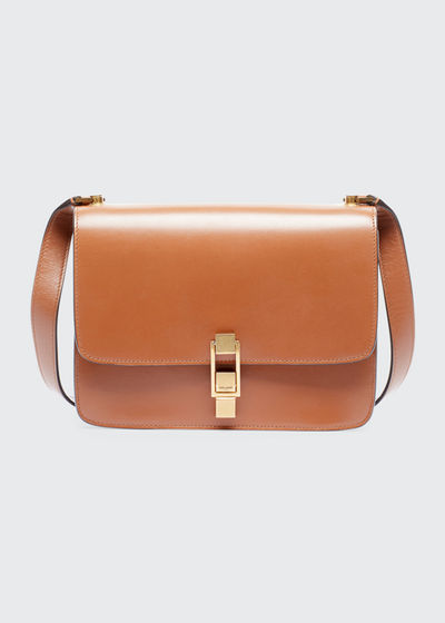Carre Smooth Leather Crossbody Bag