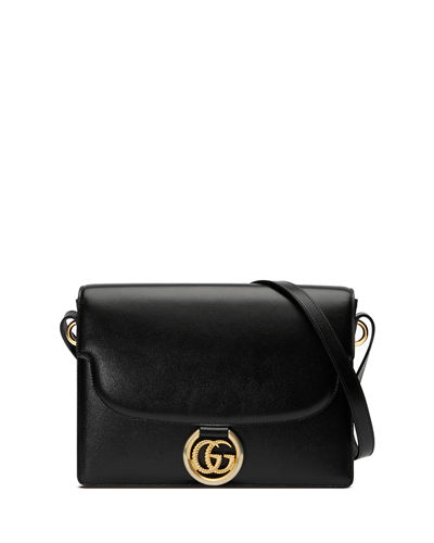 GG Ring Medium Leather Crossbody Bag