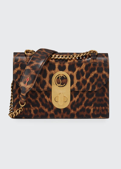 Elisa Small Leopard Shoulder Bag