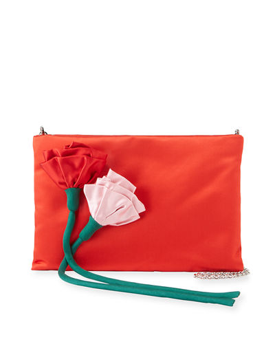 Satin Rose Crossbody Bag