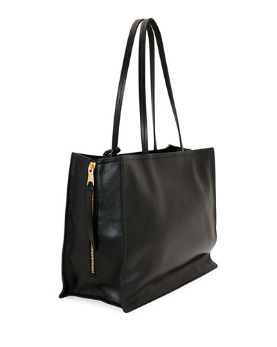 Glace Calf Leather Tote Bag