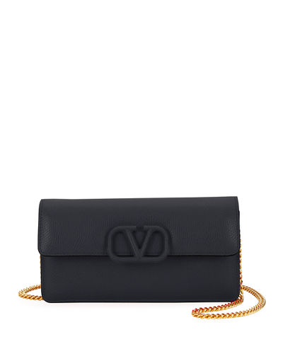 VSLING Grain Leather Wallet On Chain