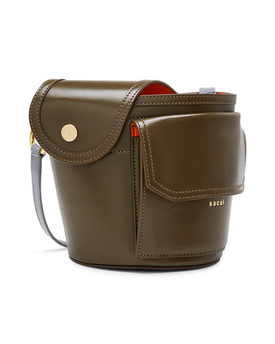 Thermos Leather Bucket Bag