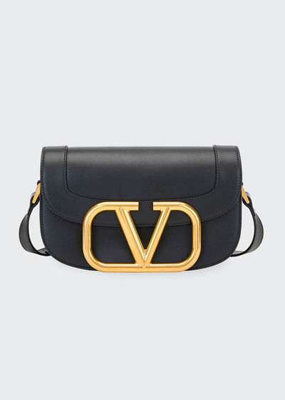 SuperV Smooth Leather Shoulder Bag