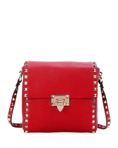 Rockstud Vitello Leather Shoulder Bag