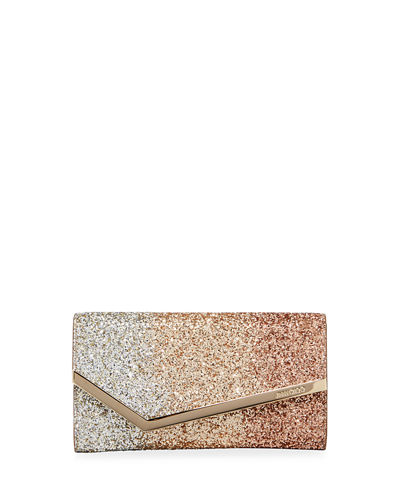 Emmie Triple Degrade Glitter Clutch Bag