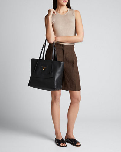 Diano Small Leather Tote Bag