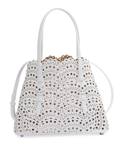 Mina Small Lux Laser-Cut Tote Bag