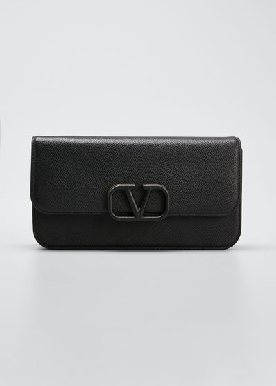 VSLING Grain Calf Clutch Bag