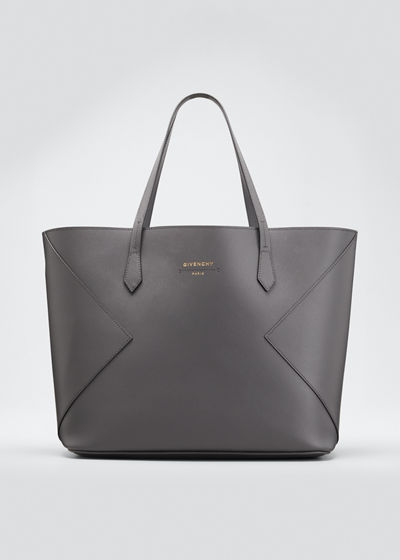 Wing Smooth Leather Shopping Tote Bag