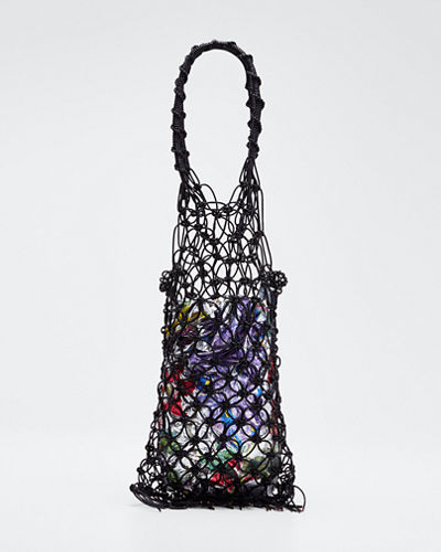 Camomille Leather Woven Tote Bag