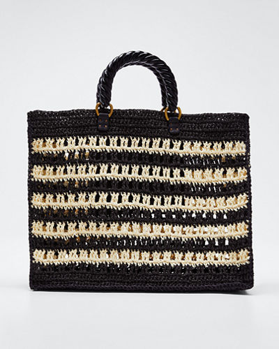 Lucia Striped Tote Bag